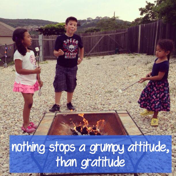 Nothing Stops a Grumpy Attitude, Than Gratitude