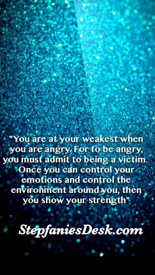 Only The Weak Get Angry
