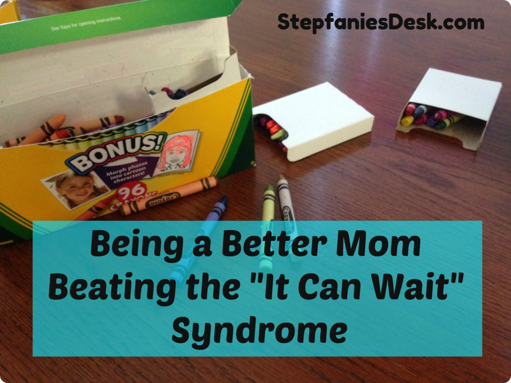 """Telling My Daughter """"It Can Wait"""", Can it?"""